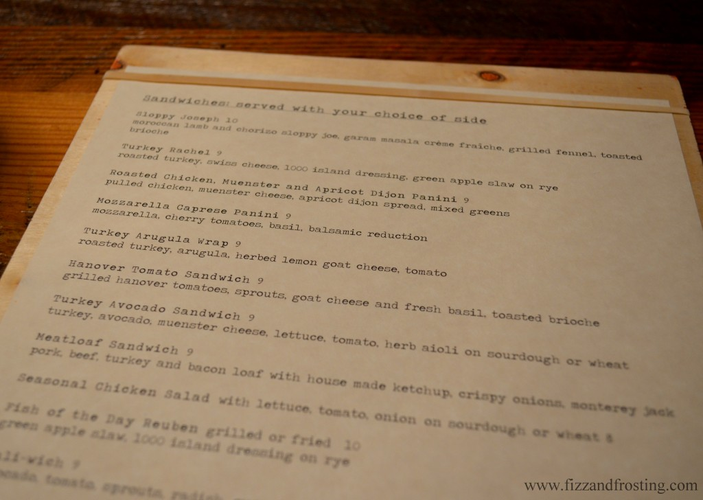Richmond Restaurant Toast Menu