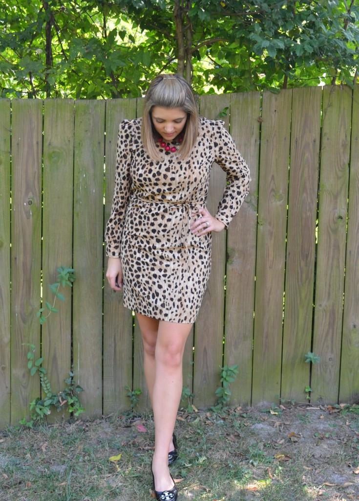 Target leopard print shift dress