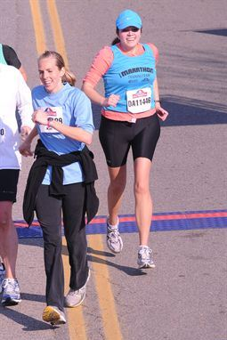 Lauren at the finish line