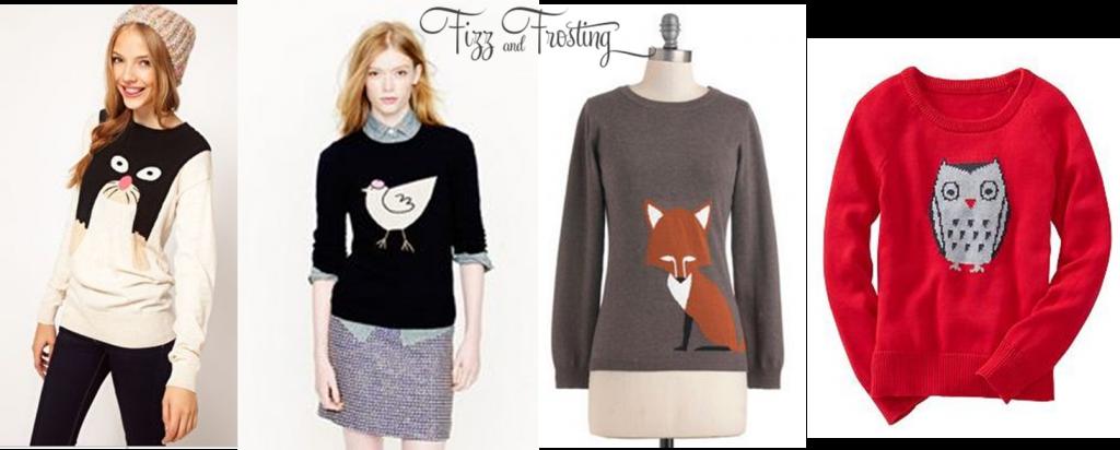 cute animal sweaters