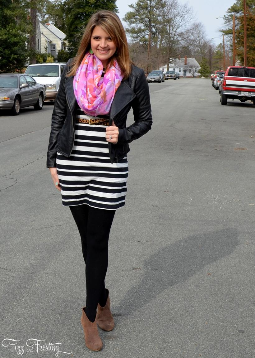 winter florals and stripes