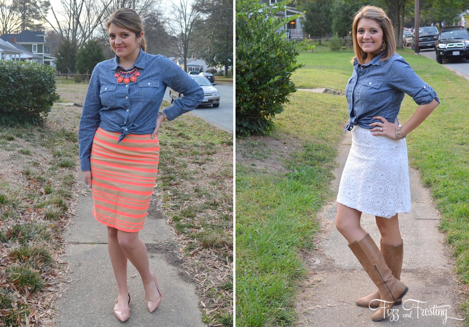 wear button down over a dress