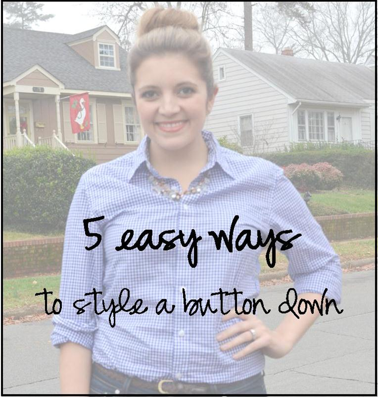 five ways wear button down