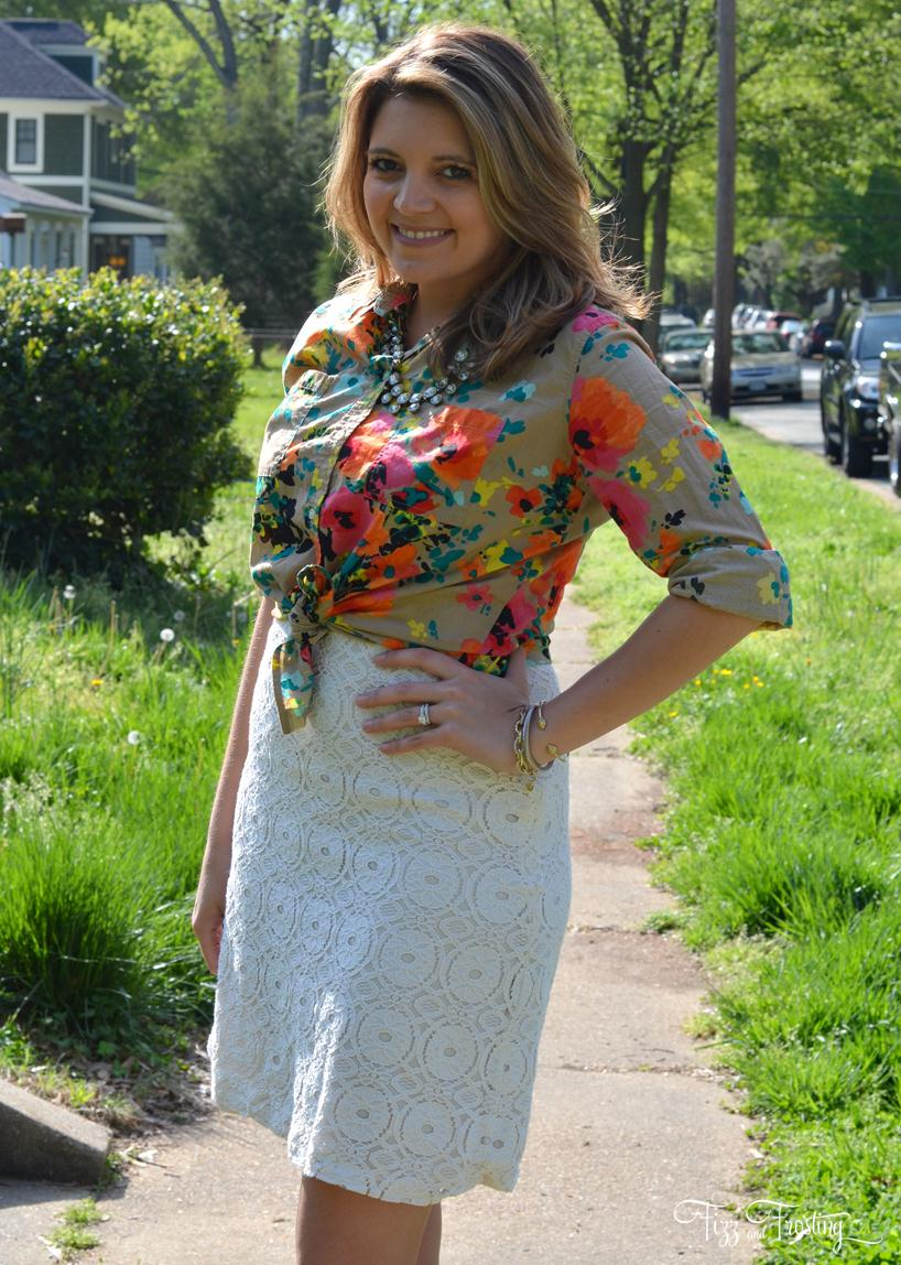 what wear with floral top