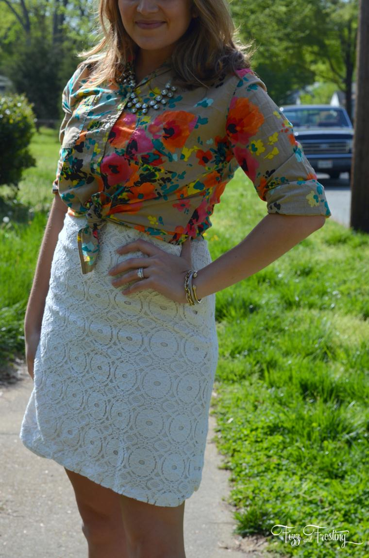 layers for spring floral print