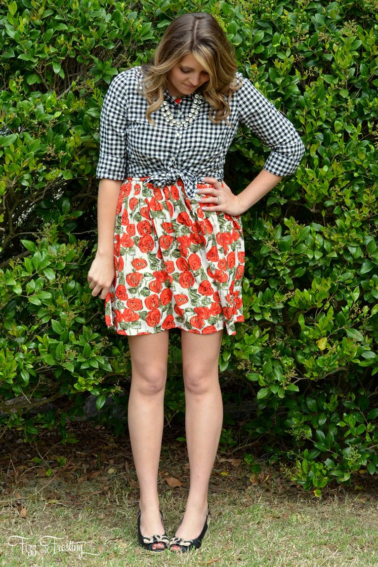 floral print and plaid