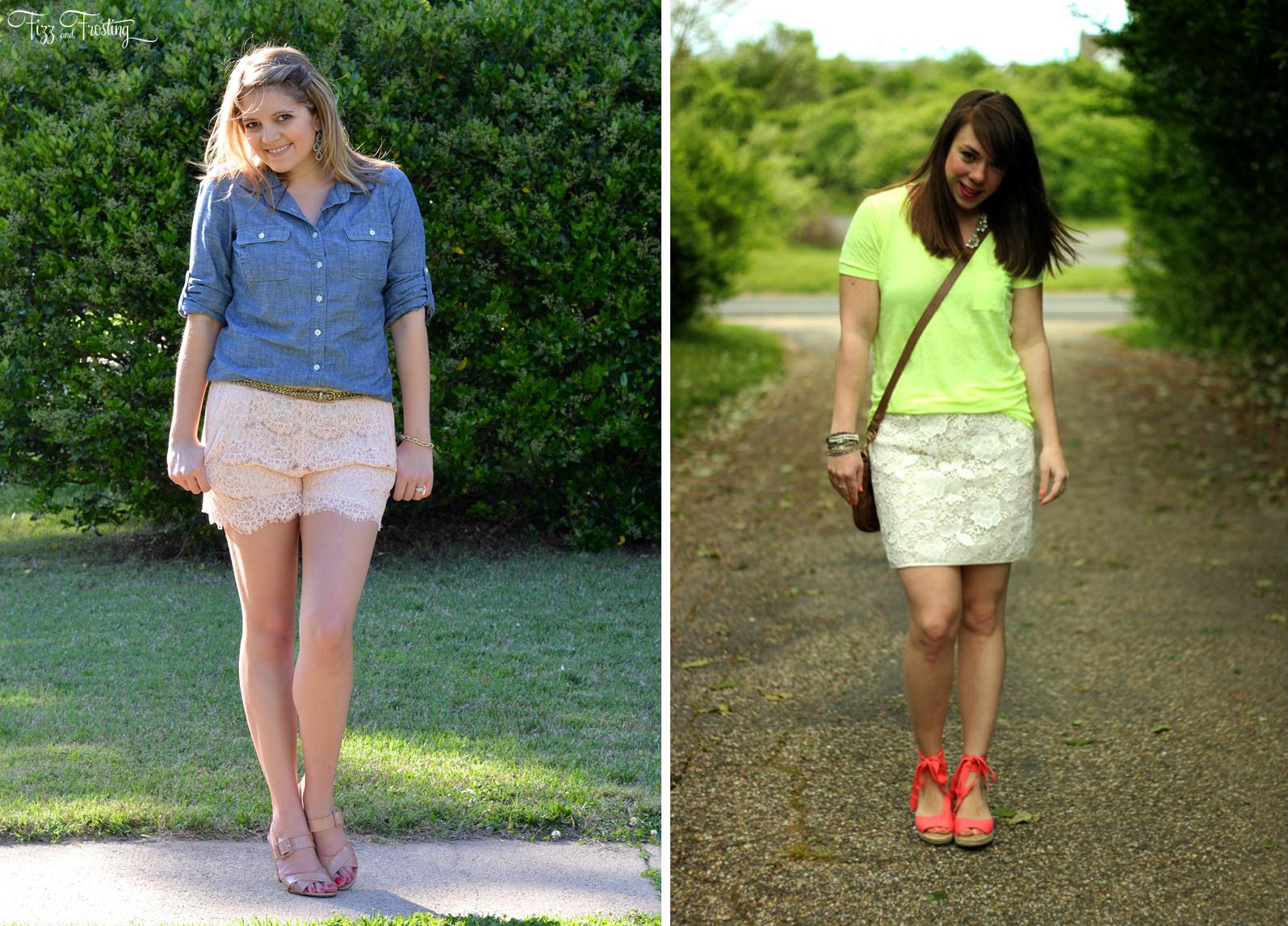 how wear lace skirt