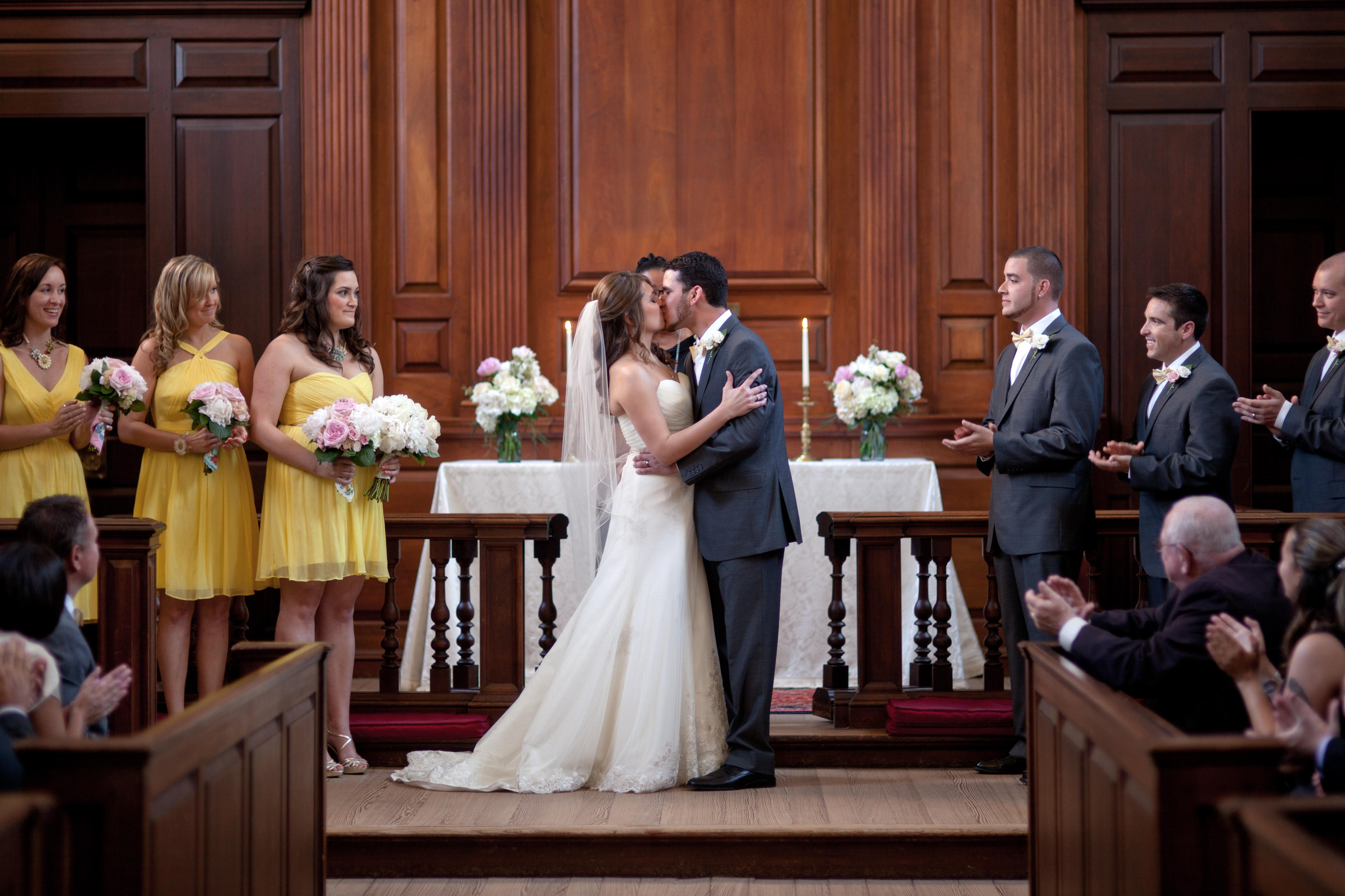 mrs hawk wedding kiss