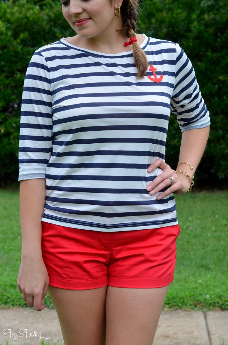 Summer nautical stripes look