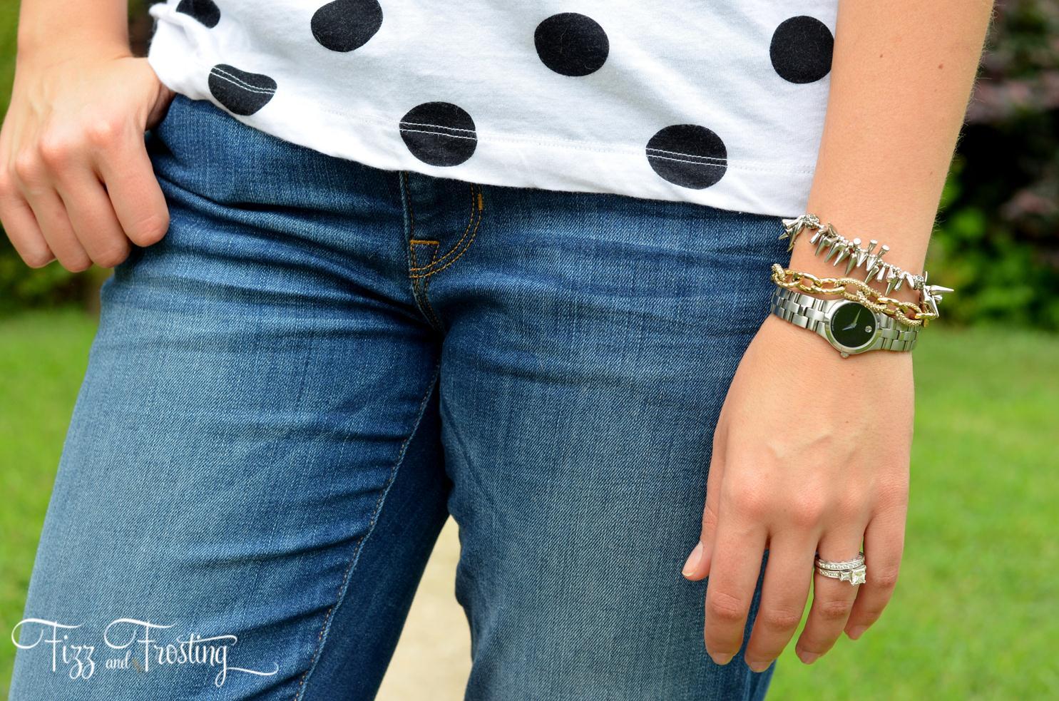 Mix Gold And Silver Bracelets .