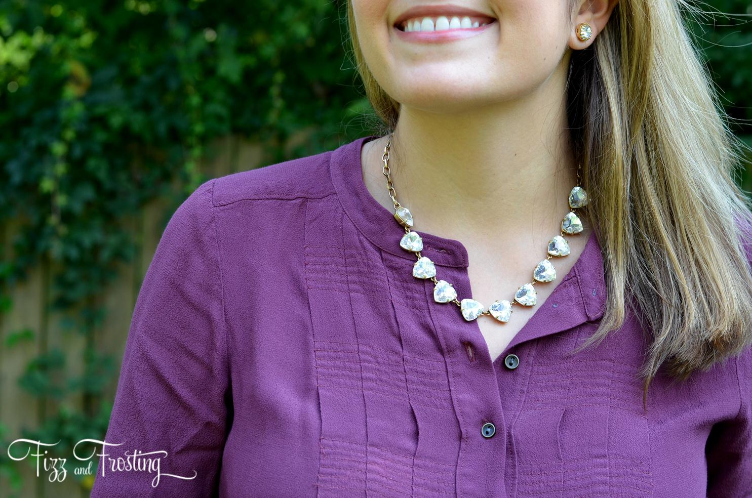 stella dot large rhinestone necklace