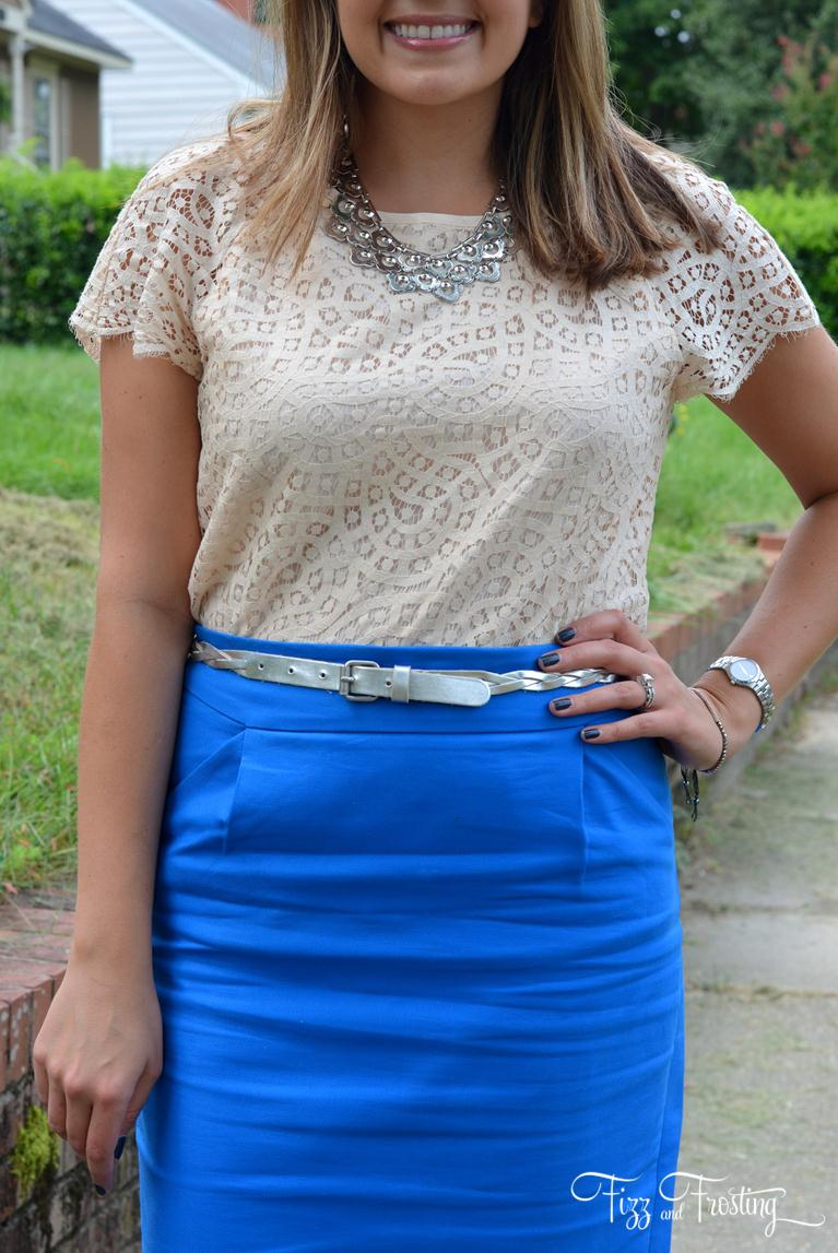 cobalt blue and metallic accessories