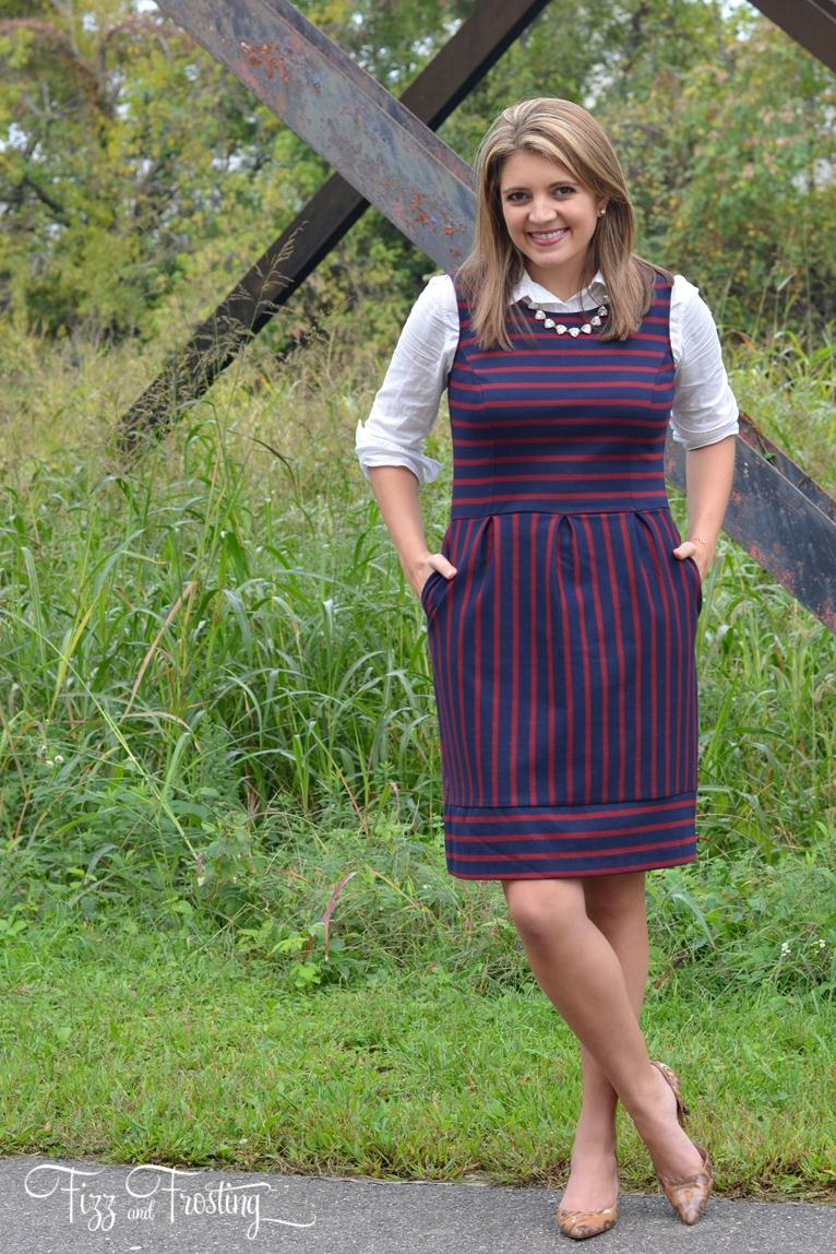 fall layers with a dress