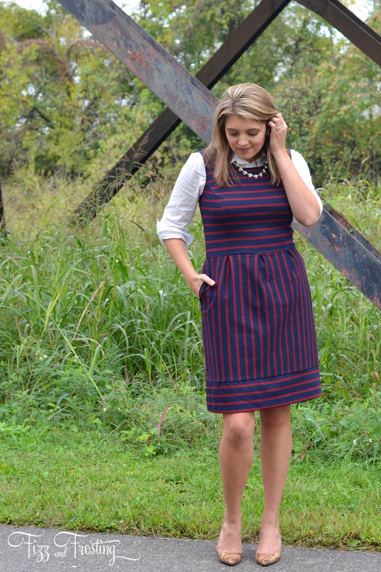 target striped dress