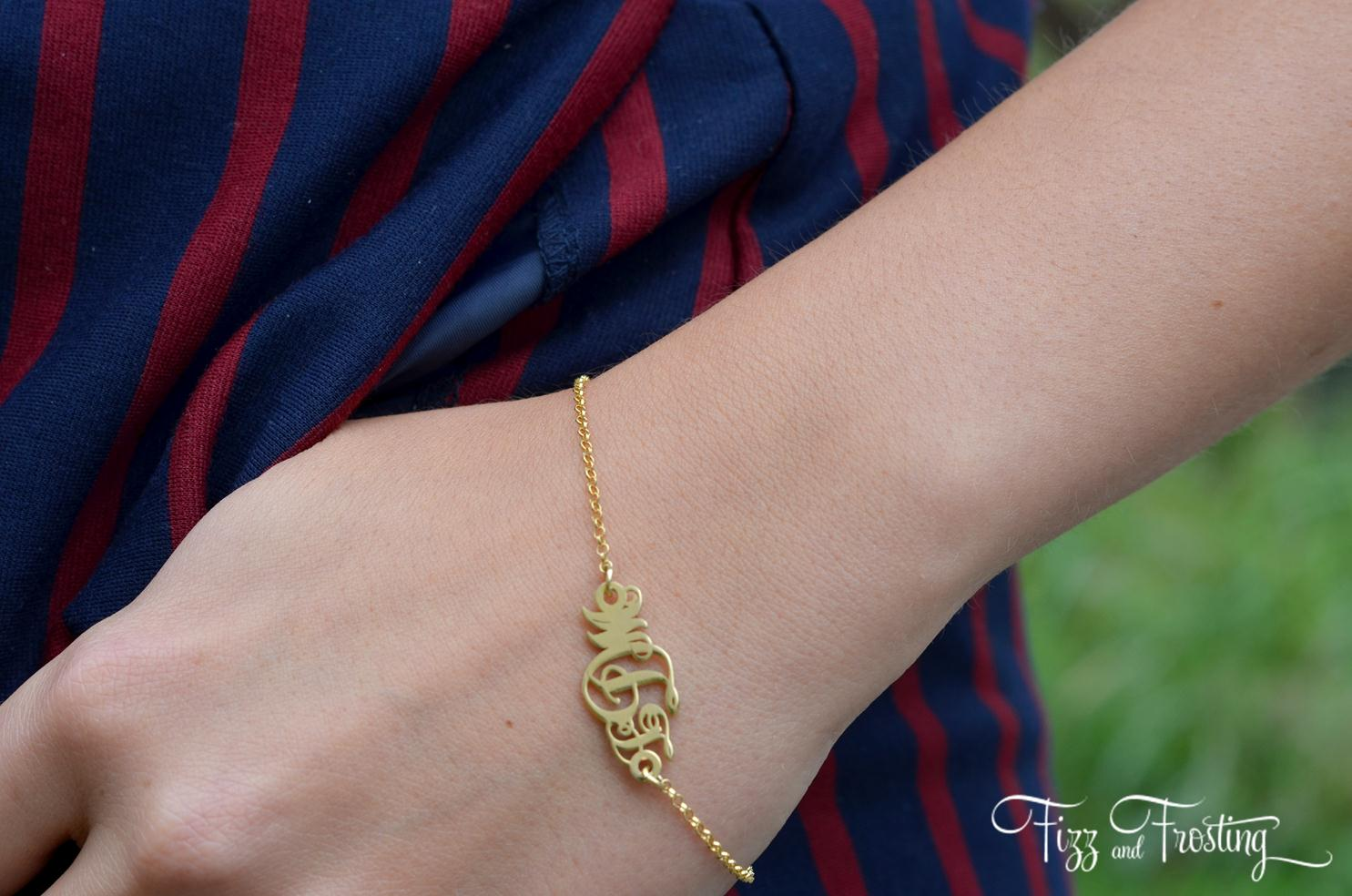 onecklace monogram bracelet