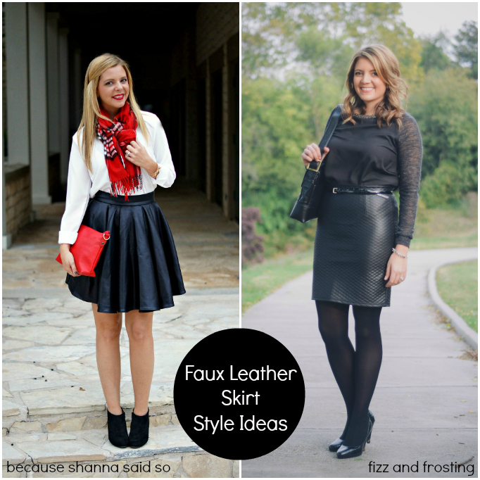 How To Dress Up A Leather Skirt - Skirts