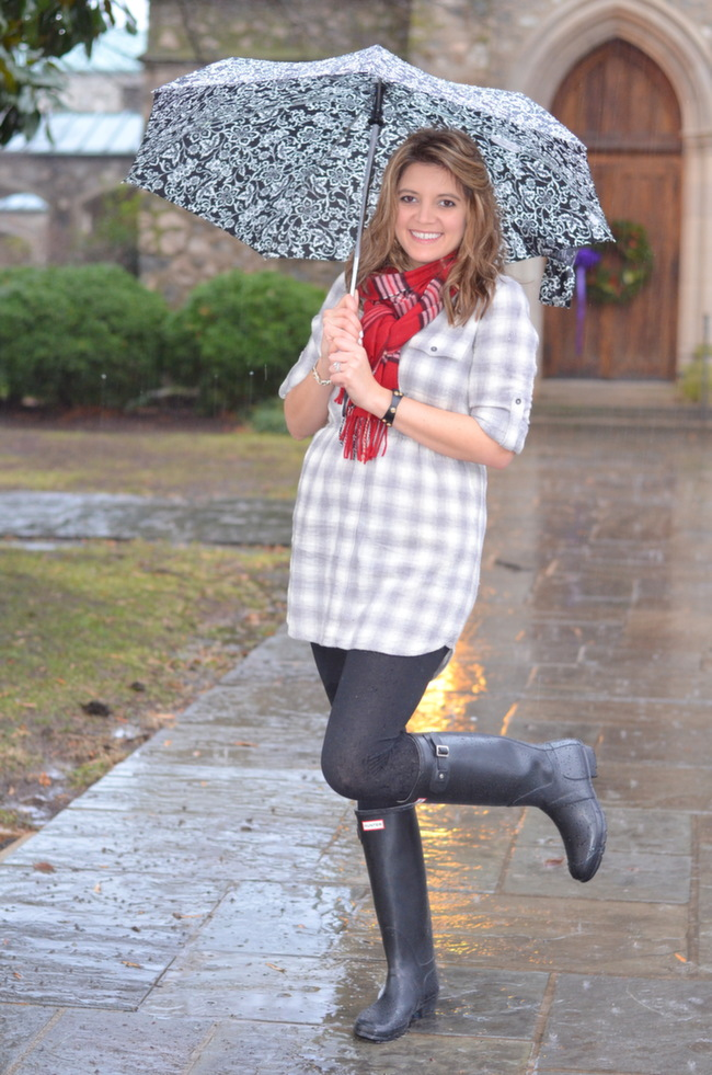 how to wear hunter boots rainy day winter