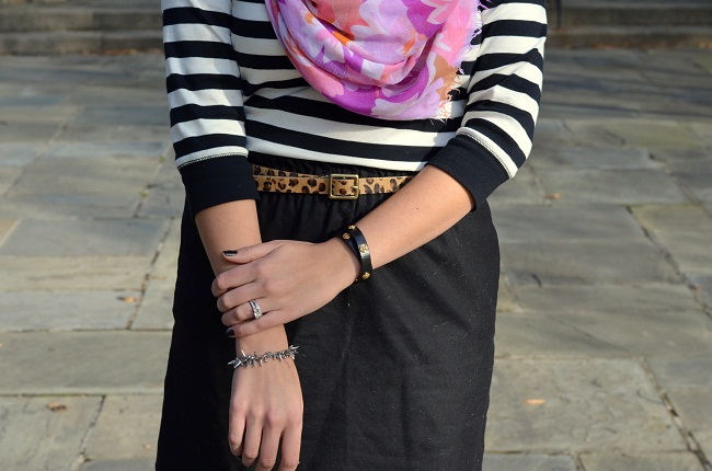 stripes with floral print and animal print