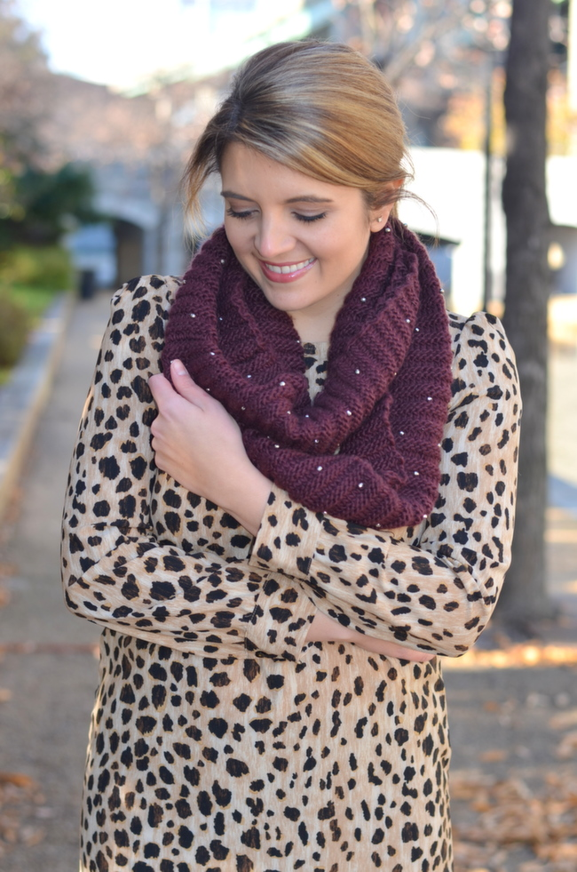 merona studded scarf winter