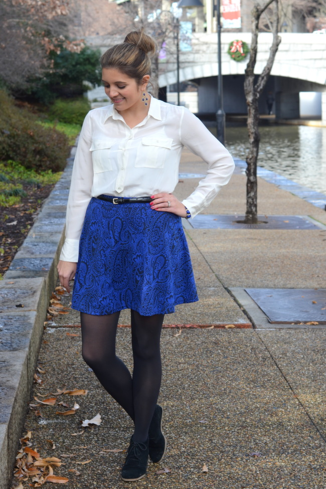 cobalt and black paisley skirt romeo juliet couture