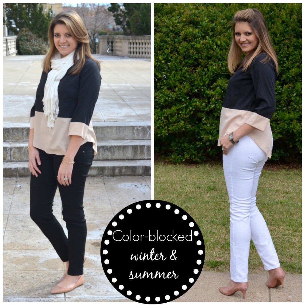 two ways to colorblock