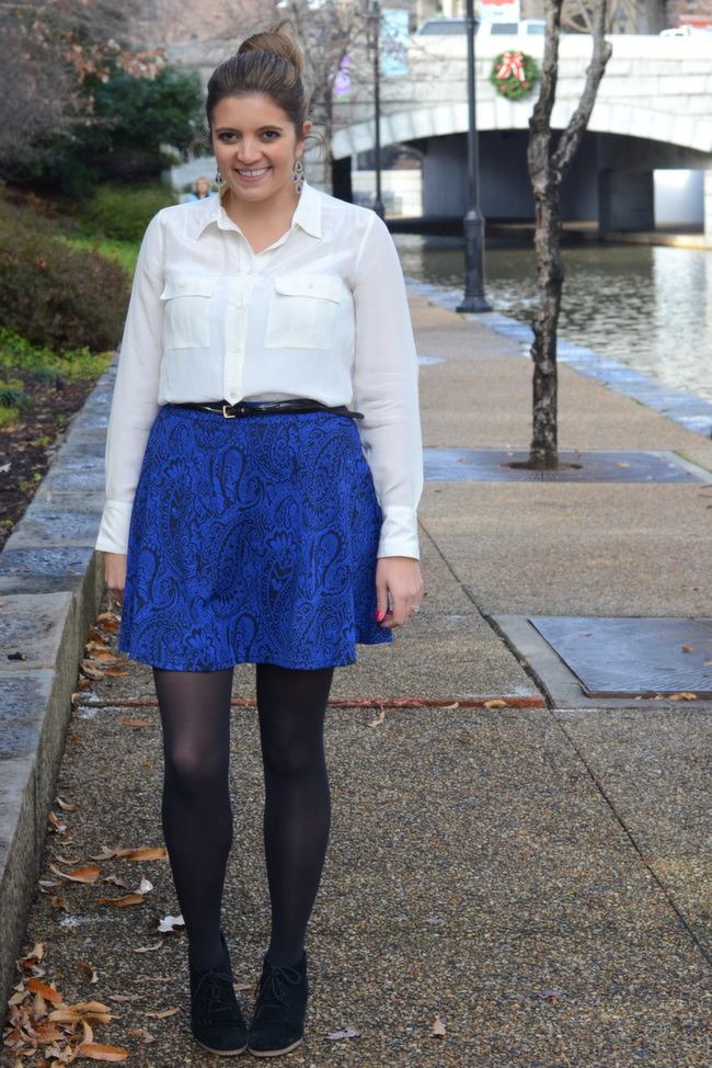 circle skirt date night look