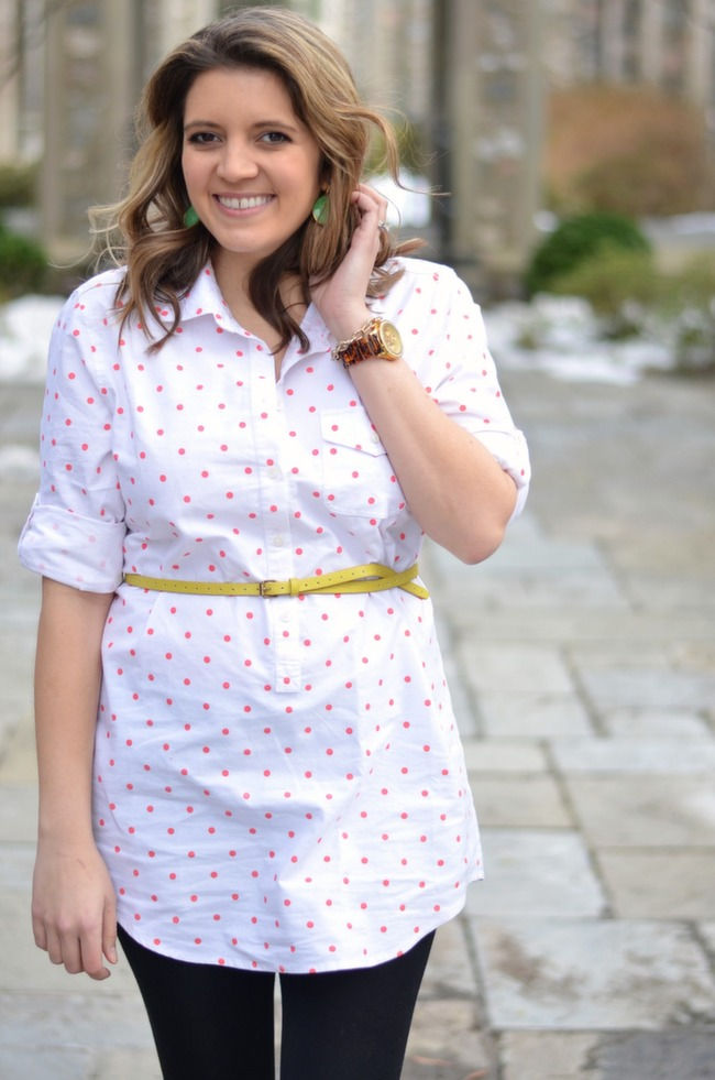 how wear tunic in spring