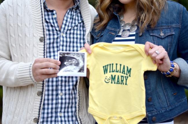 cute diy baby announcement