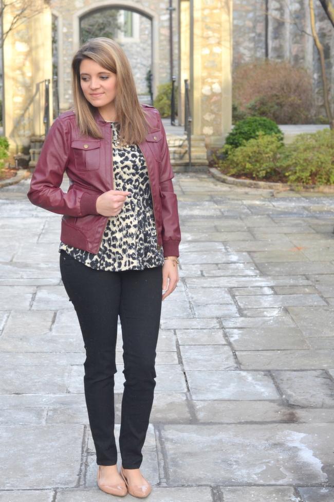 Mix It Burgundy Faux Leather Jacket By Lauren M