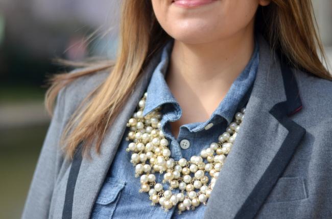 stella & dot layered pearls