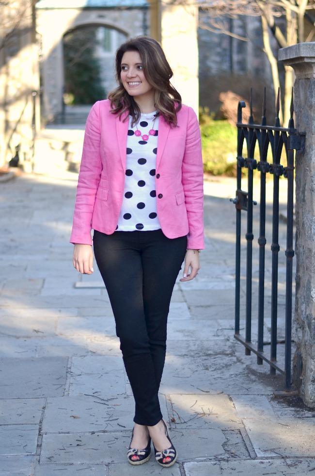 pink blazer for spring
