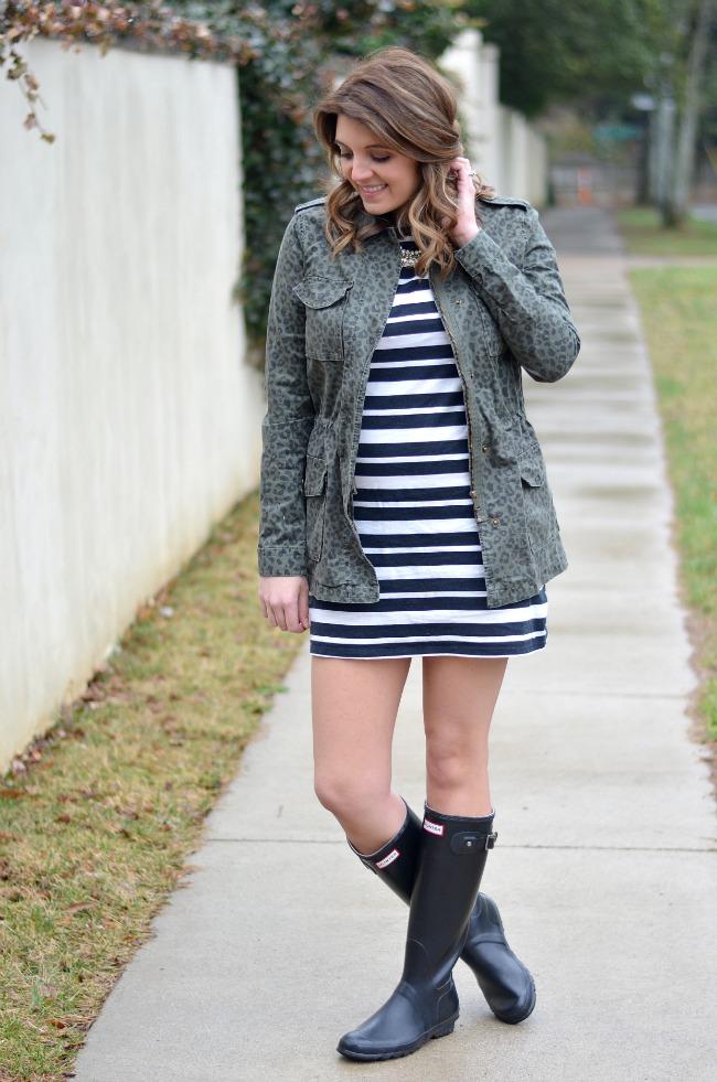 how wear striped tshirt dress
