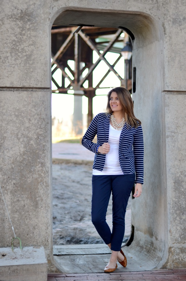 striped blue blazer kenar