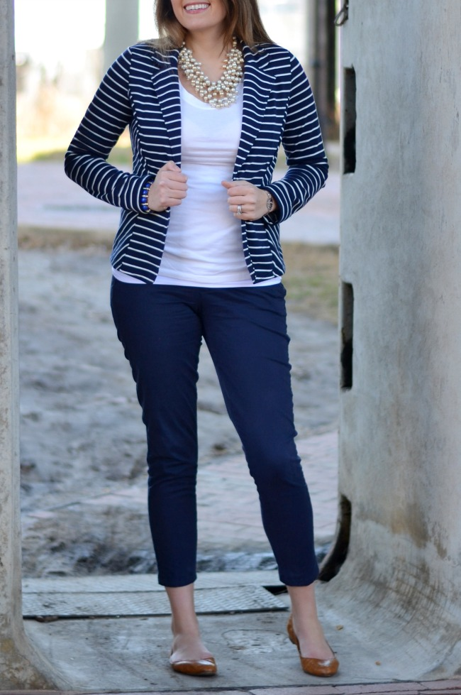 how wear striped blazer