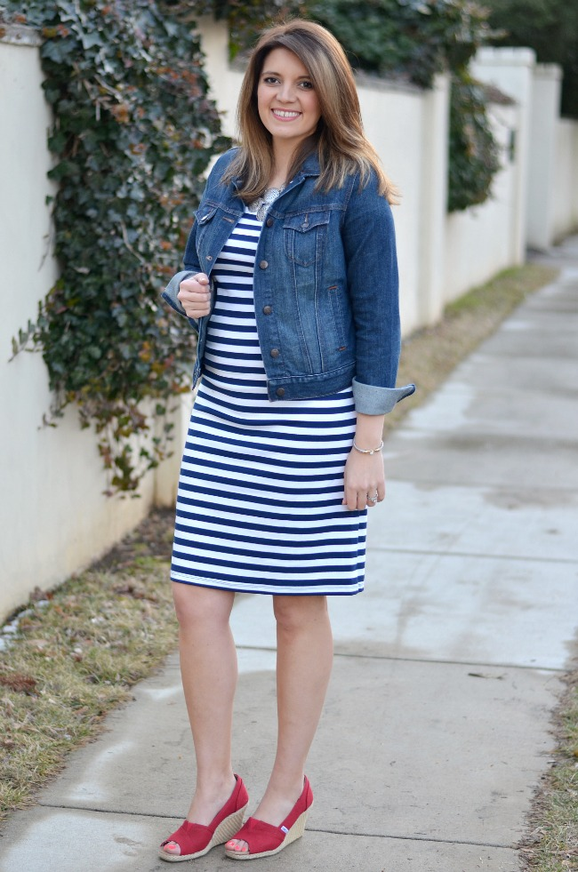 second trimester weekend spring outfit