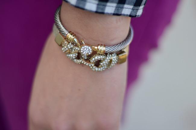 how to stack crystal bracelets