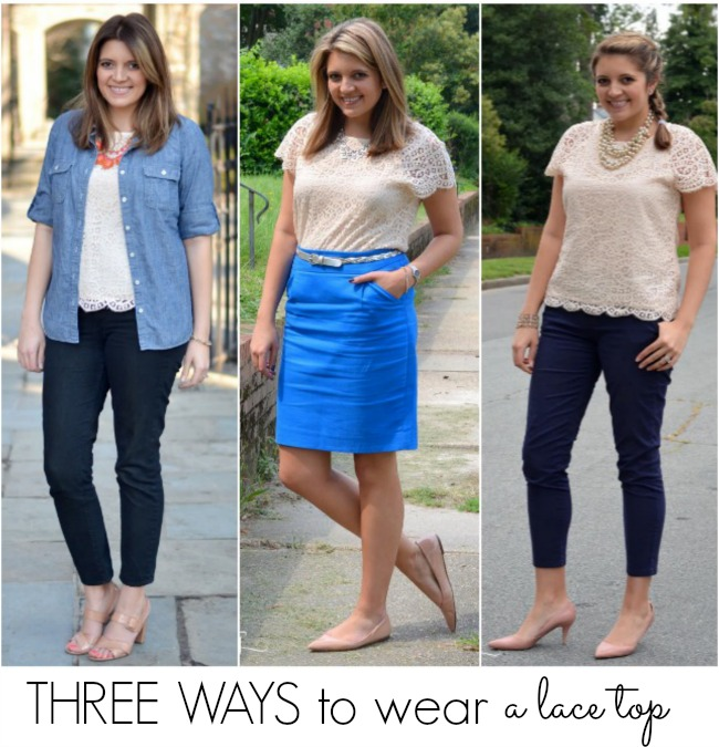 how to wear lace top