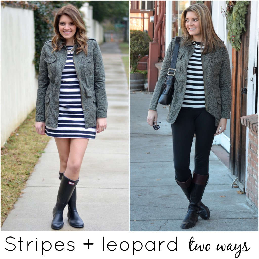 how wear stripes and leopard together