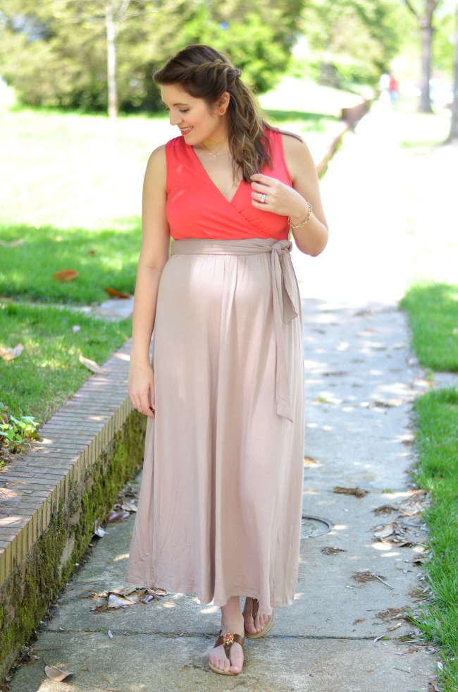 two tone bright top maxi
