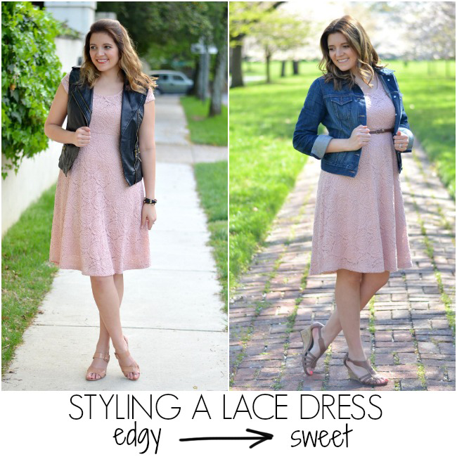 two ways to style lace dress