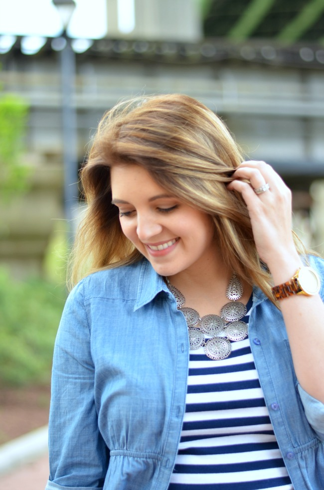 stripes with chambray