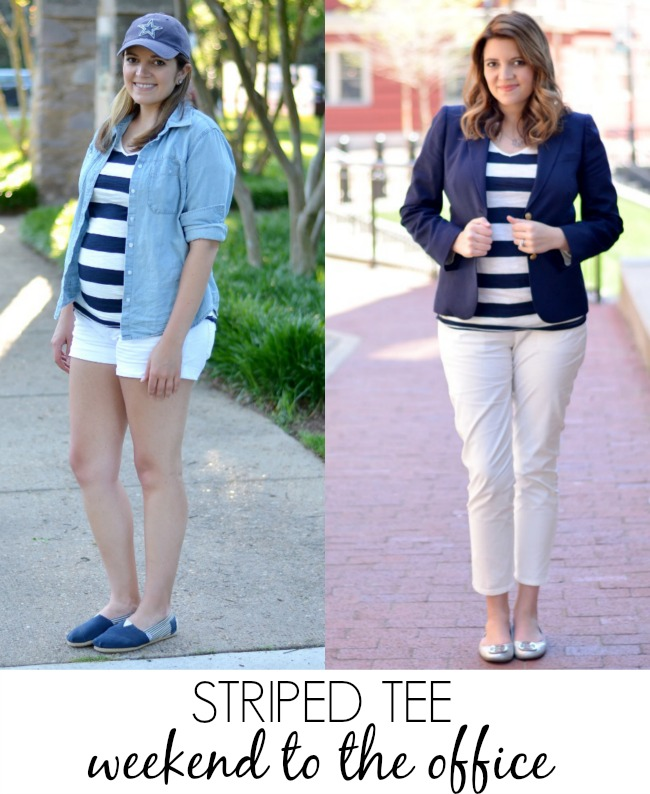 how style striped tee pregnancy