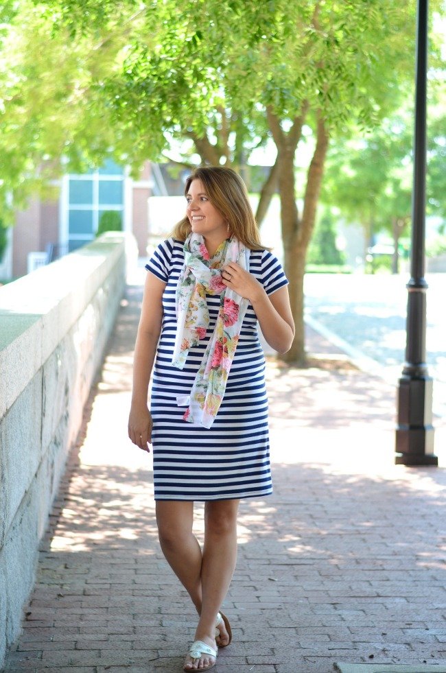 floral prints and stripes