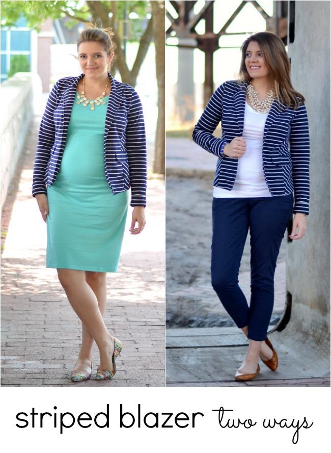 how wear striped blazer