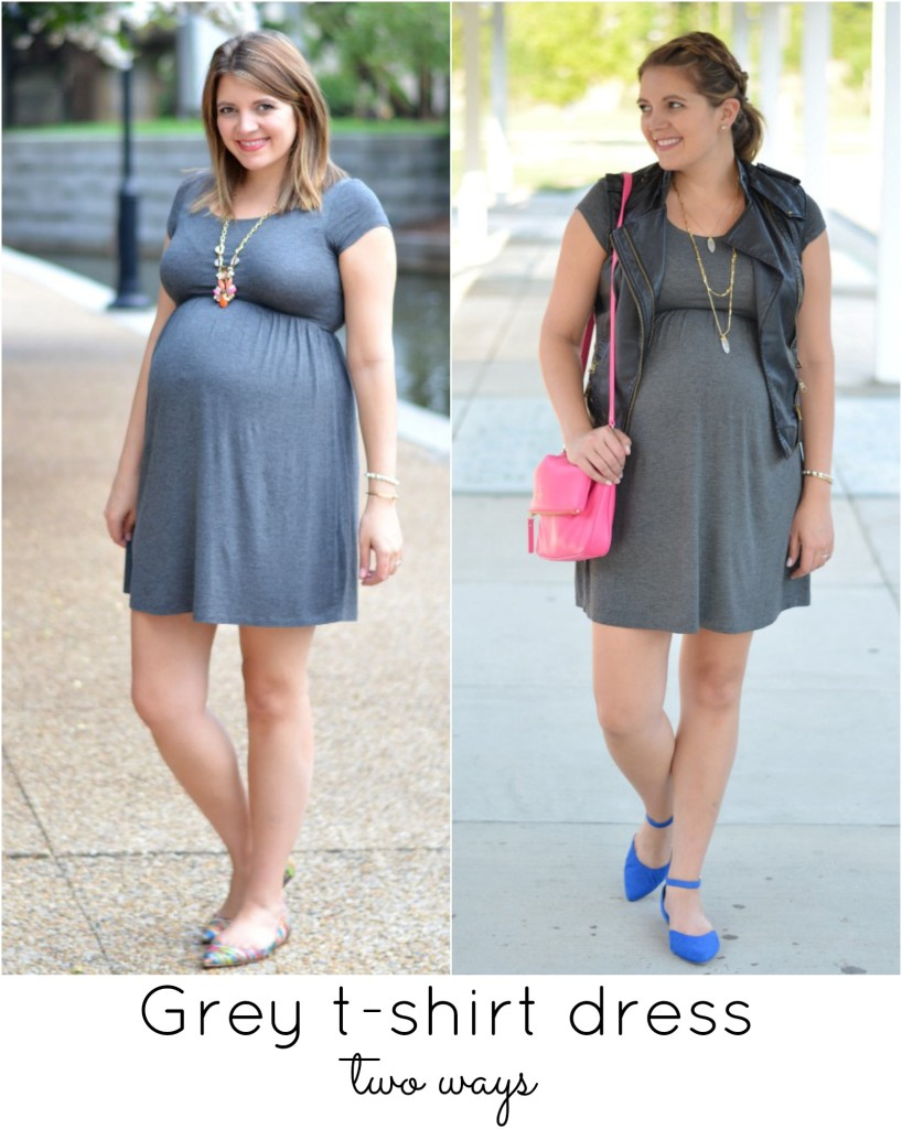 grey tshirt dress maternity