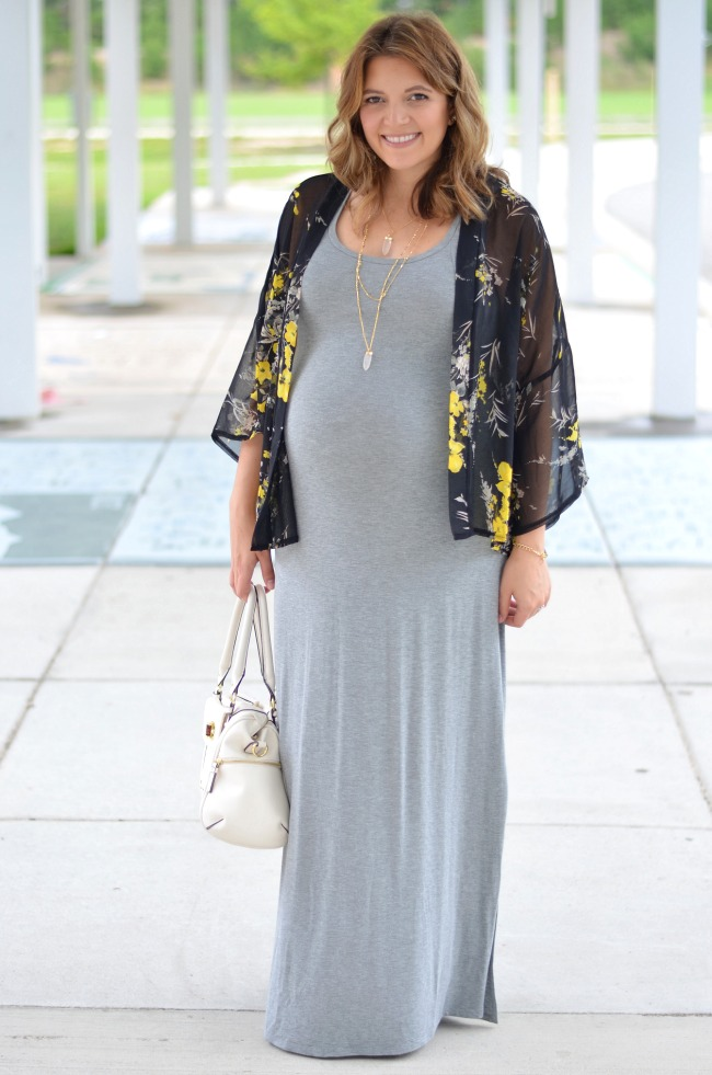 Mix it: Gray Maternity Maxi | By Lauren M