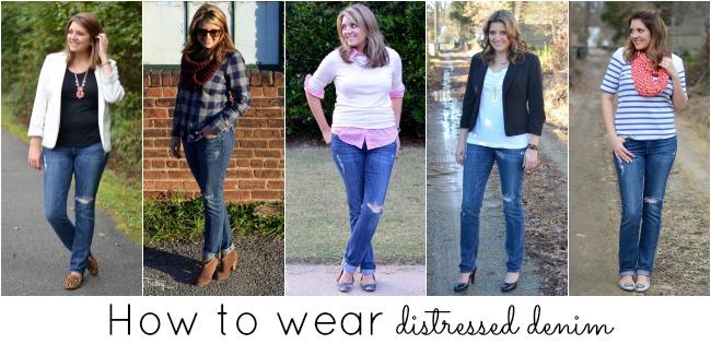 wear ripped jeans