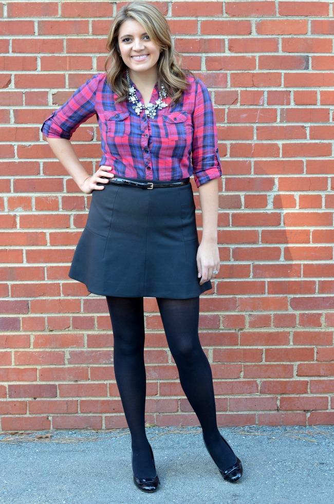 dressy flannel plaid