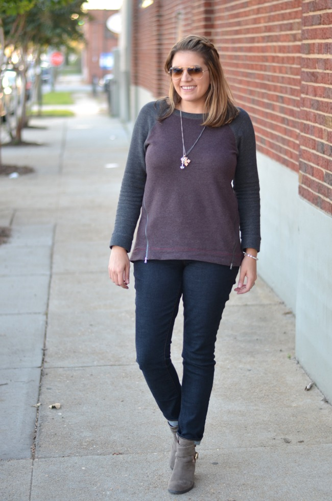 tunic sweater with jeans