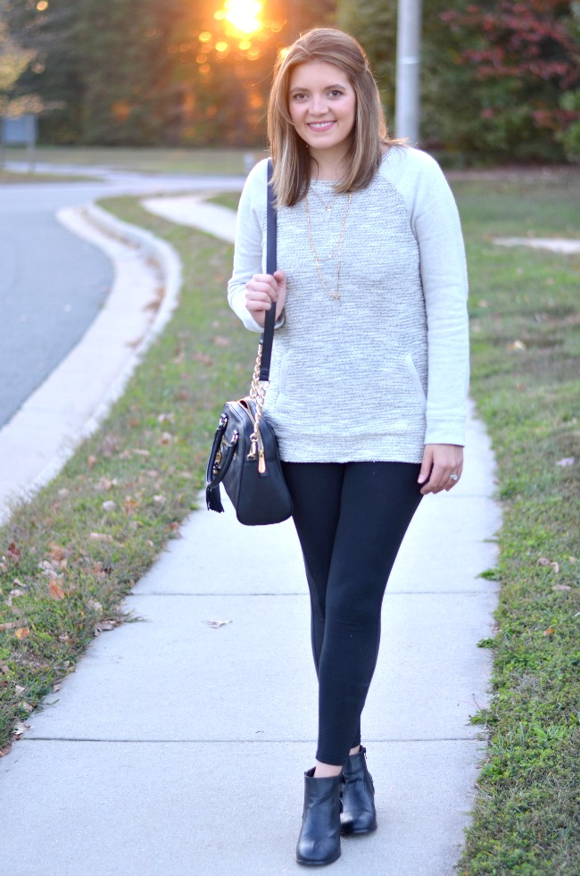how wear leggings with a sweatshirt
